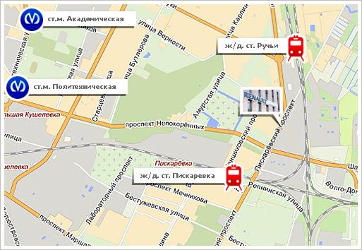 Схема проезда к Петрвоскому