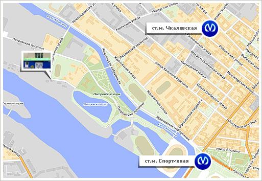 """Схема проезда к Петровскому автоцентру - шинный центр  """"Tyre Plus """" ."""