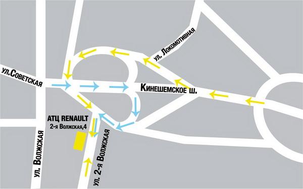 Схема проезда к автосалону
