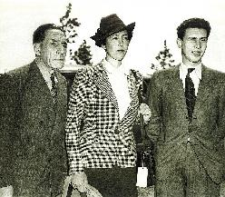 Луи Рено с женой Кристианой и сыном. Нью-Йорк, 1940 г.
