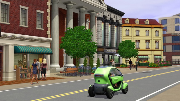 Скриншот из игры TheSims3 - Электро-кар Renault Twizy в игре The Sims3